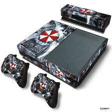 Xbox One Console Skin Decal Sticker Resident Evil + 2 Controller Skins Set