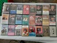 Lot of 24 Country/Western Cassettes - Patsy, Marty, Ricky, Hank & More - Used