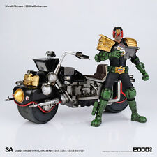 1/12 scale Judge Dredd action figure and Lawmaster Mk.i bike by Three A ~ 920512