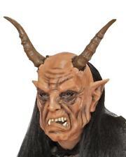 Maschera Da Diavolo Con Parrucca Halloween o Carnevale PS 26181