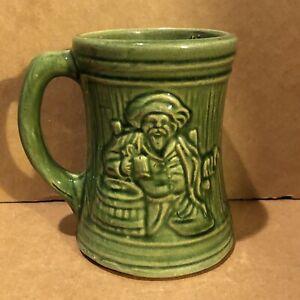 VINTAGE OLD PIRATE BUCCANEER COFFEE  BEER MUG STEIN MCCOY ART POTTERY STONEWARE