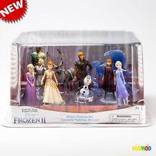 Disney Store Frozen 2 Deluxe 10 Figure Set Elsa Anna Olaf Cake Topper Playset