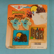 vintage monster cereal BOOBERRY MONSTERS MINI COLLECTION MOC erasers crayons