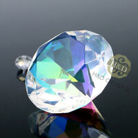 AB Coating Crystal Diamond Shaped Paperweight Glass Wedding Ornament Gift 30mm