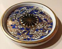 "Vintage Hand Painted Japanese Imari  Porcelain 4"" Plate Trinket Dish Ringling"