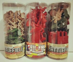 MILITARY, BATTLEFIELD & 911 FIRE RESCUE - 3 PCE SET IN CYLINDERS