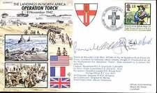 JS50/42/12 Wii WW2 opération Torch Afrique du Nord débarquements RAF couverture signé