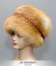 Red FOX Winter Fur Hat Schapka Pelzmütze Fellmütze Wintermütze Rotfuchs Mütze