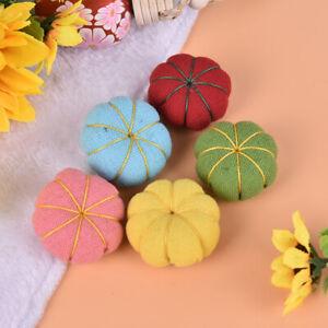 1PC Cute Pumpkin DIY Craft Needle Pin Cushion Holder Sewing Kit Pincushion TP