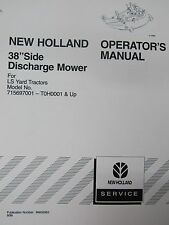 "New Holland Operator's Manual for 38"" Side Discharge Mower 86602563 Sept. 1999"