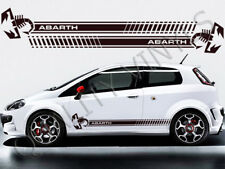 Fiat punto abarth racing stripes side decals graphic stickers RS48