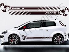 Fiat Punto Abarth Racing rayas calcomanías de lado Gráfico Pegatinas RS48