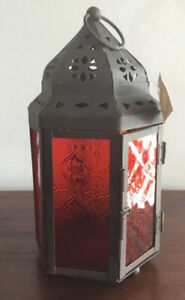 Lovely Moroccan Style Red Lantern New With Tags