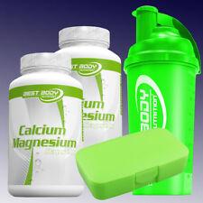 10,09€/100g Best Body Calcium Magnesium 2 x 100 Kapseln + Box u.  Shaker Grün