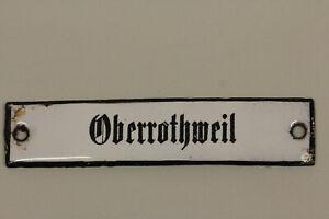 altes Emailleschild  Deutsche Post Reichspost Oberrothweil am Rhein Emailschild