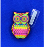 Multicolored Stained Glass Owl Shoe Charms for Crocs and Jibbitz Bracelets