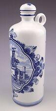 "Vintage Delft Blue Holland Liquor Decanter Bottle 9"""