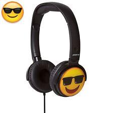 Children's Over Ear Adults Cool Emoji Kids DJ Style Stereo Earmoji Headphones