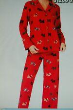 Ladies Charter Club Flannel PJ's Red Animal/Scottie BNWT US M (UK 14/16) (DD14)