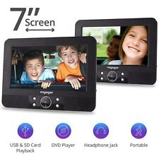 "Voyager In Car DVD Twin Headrest 7"" Inch Screen Portable Players"