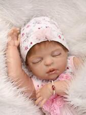 "23"" Handmade Lifelike Reborn Baby Dolls Full Body Silicone Vinyl Bath Girl Gift"