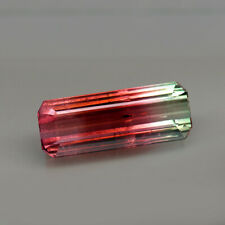 21.53ct.RARE GEMSTONE BI COLOR TOURMALINE OCTAGON CUT NATURAL GEMSTONE JUMBO