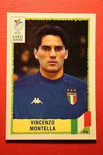 Panini EURO 2000 N. 185 ITALIA MONTELLA TOP MINT WITH GREEN BACK