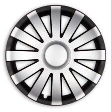 4x Premium Diseño Tapacubos Agat pintado 14 pulgadas Negro Plata