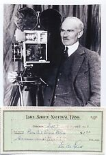 Lee De Forest Inventor 'Father of Radio' Awarde 00006000 d 180 Patents Signed Check