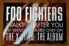 Rare Foo Fighters X Files album promotional poster from 1998
