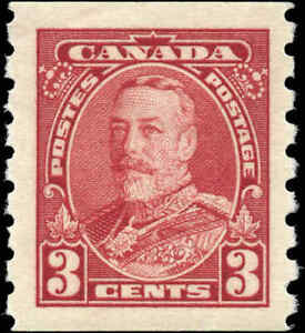 Canada Mint H F-VF 3c Scott #230 1935 King George V Pictorial Coil Stamp