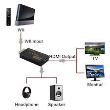 Adattatore Wii a HDMI 1080P Full HD Convertitore | NTSC / PAL Formato | Jack da