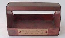 1987 Sheet Metal Workers International SMWIA Local 77 Copper Mini Toolbox Tray