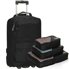 22' Anti-theft Carry on Luggage Flight Approved Wheeled Waterproof Backpack 35L