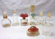 Lot of 9 EMPTY miniature perfume bottles.