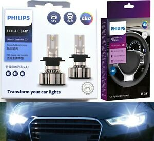 Philips Ultinon LED G2 Canceller H7 Two Bulbs Head Light Low Beam Upgrade OE