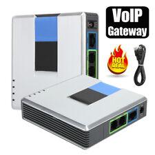 2 Port VoIP Gateway Router Internet Phone Adapter Telephone Converter RJ45 SIP