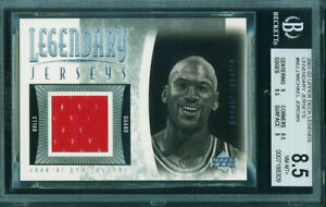 2001-02 UD Legendary Jerseys MICHAEL JORDAN Jersey Relic BGS 8.5 Chicago Bulls