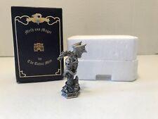 Nib Myth And Magic By The Tudor Mint Rook Black Pewter Figurine 3�