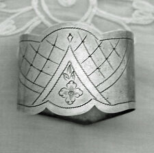 """Russian Oval """"84"""" Silver Napkin Ring"""