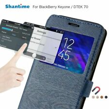Leather Phone Case For BlackBerry Keyone Flip Shell Back Cover Casual Magnet Top