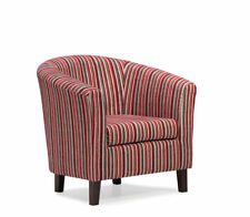 Living Room Striped Contemporary Armchairs