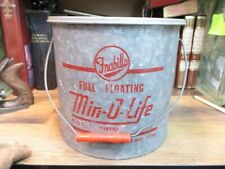 FRABILL'S MIN-O-LIFE FULL FLOATING MINNOW BUCKET GALVANIZED #1480 10 QT VINTAGE