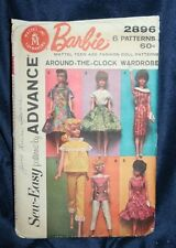 "1962 MATTEL BARBIE DOLL CLOTHING PATTERN ENVELOPE  11.5"" DOLL"