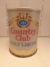 8oz COUNTRY CLUB MALT LIQUOR STRAIGHT STEEL PULL TAB BEER CAN #28-19