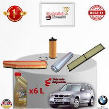 KIT TAGLIANDO 4  FILTRI E OLIO BMW X3 2.0 D E83 130KW 177CV DAL 2008 ->