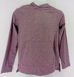 Boys Soft Gym Pullover Hoodie All in Motion Raspberry Purple S 6/7 Side Pockets
