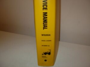 Mitsubishi WS200A Wheel Loader Backhoe Service Manual , s/n 00001 - up