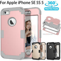 For iPhone SE 5S 5G Hybrid Heavy Duty Shockproof Full-Body Protective Case New