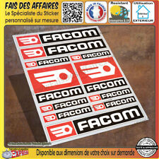 planche Sticker autocollant Facom outillage adhésif decal sponsor tuning outil